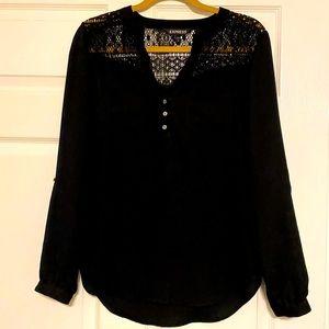 Express Black Lace Tunic